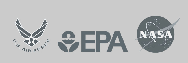 logos for the airforce EPA and NASA