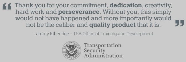 review from TSA training and development